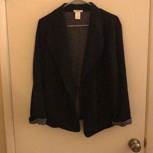 Black relaxed cotton blazer